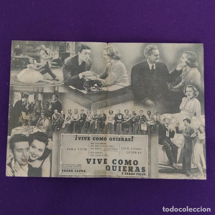 Cine: PROGRAMA DE CINE ORIGINAL. VIVE COMO QUIERAS. DOBLE. - Foto 2 - 220265197