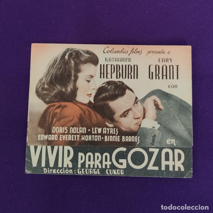 PROGRAMA DE CINE ORIGINAL. SAN SEBASTIAN (GUIPUZCOA). VIVE PARA GOZAR. DOBLE. (Cine - Folletos de Mano - Comedia)