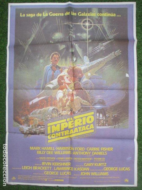 CARTEL CINE LA GUERRA DE LAS GALAXIAS EL IMPERIO CONTRAATACA CONTRATACA HARRISON FORD 1980 C1150 (Cine - Folletos de Mano - Ciencia Ficción)