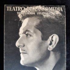 Cine: PROGRAMA DEL TEATRO DE LA COMEDIA CON ALBERTO CLOSAS. AÑO 1959.. Lote 220497170