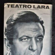 Cine: PROGRAMA DEL TEATRO LARA CON ALBERTO CLOSAS. AÑO 1967.. Lote 220497825