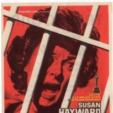 Flyers Publicitaires de films Anciens: FOLLETO DE MANO - QUIERO VIVIR - SUSAN HAYWARD - CINE TARRAGONA - TGNA. - AÑO 1958. Lote 220506466