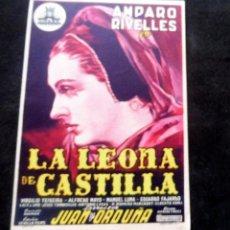 Cine: PROGRAMA DE CINE - LA LEONA DE CASTILLA - S/P. Lote 220578188