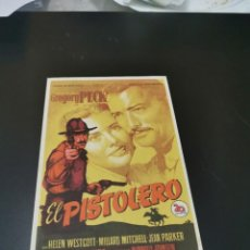 Flyers Publicitaires de films Anciens: PROGRAMA DE MANO ORIG - EL PISTOLERO - CON CINE DE RUTE IMPRESO AL DORSO. Lote 220616835