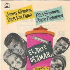 Flyers Publicitaires de films Anciens: PN - PROGRAMA DE CINE - EL ARTE DE AMAR - JAMES GARNER, ANGIE DICKINSON - CINEMA KURSAAL 1966. Lote 242295175