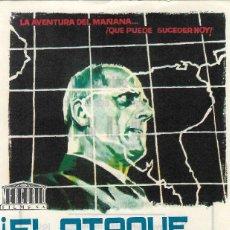 Cine: PN - PROGRAMA DE CINE - ¡ EL ATAQUE VIENE DEL ESPACIO ! - ANDRE SMAGGHE - CINE AVENIDA (MÁLAGA) 1965. Lote 220683267