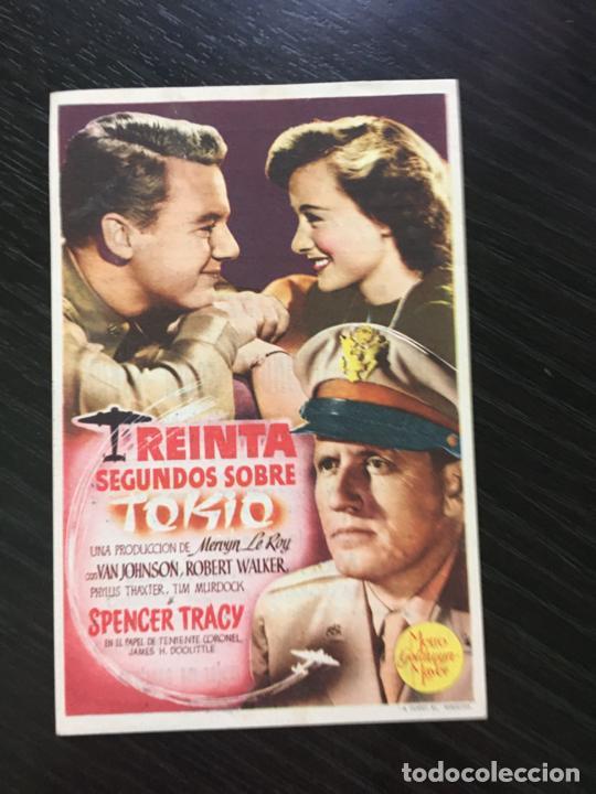 TREINTA SEGUNDOS SOBRE TOKIO - PROGRAMA DE CINE - C/P CAMPRODON 1947 (Cine - Folletos de Mano - Bélicas)