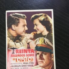 Folhetos de mão de filmes antigos de cinema: TREINTA SEGUNDOS SOBRE TOKIO - PROGRAMA DE CINE - C/P CAMPRODON 1947. Lote 220684062