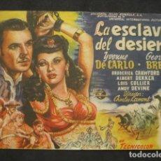 Cine: LA ESCLAVA DEL DESIERTO. CINE ASTORIA. Lote 220686982