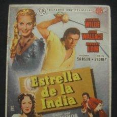 Cine: ESTRELLA DE LA INDIA. CINE GOYA, ZARAGOZA. Lote 220687140