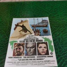 Foglietti di film di film antichi di cinema: PROGRAMA DE MANO ORIG - LA LUZ DEL FIN DEL MUNDO - CON CINE DE CÁCERES IMPRESO AL DORSO. Lote 220772705
