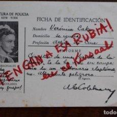 Cine: PROGRAMA DE CINE - DETENGAN A ESA RUBIA - VERONICA LAKE - 1945. Lote 220840152