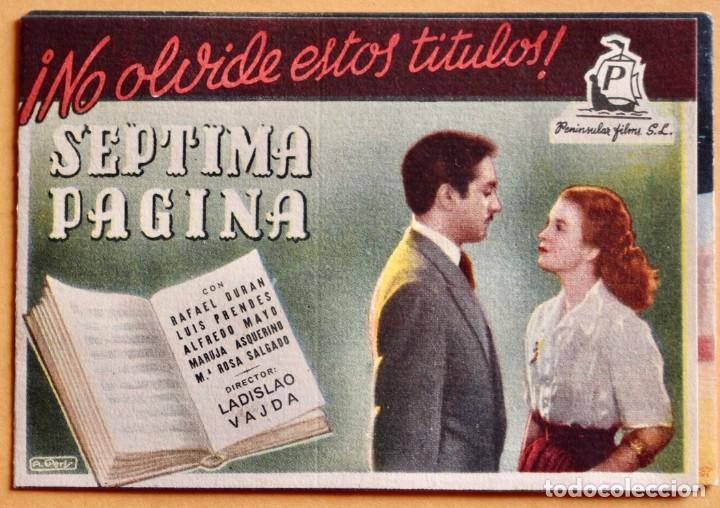 Cine: PROGRAMA CALENDARIO FUTBOL LIGA 1951/52, SÉPTIMA PÁGINA, HOMBRE ACOSADO Y UN CORAZÓN EN EL RUEDO - Foto 2 - 220847551