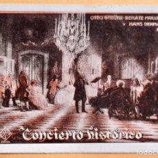 Cine: CONCIERTO HISTORICO- OTTO GEBUHR- RENATE MULLER Y HANS REHMAN - UFA. Lote 220849555