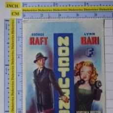 Cine: PROGRAMA CARTEL DE MANO. PELÍCULA NOCTURNO. PUBLICIDAD CINE SAN ANTONIO 1955 ALMENDRALEJO. 226. Lote 220852790