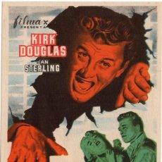 Cine: FOLLETO DE MANO - EL GRAN CARNAVAL - KIRK DOUGLAS - REVERSO EN BLANCO - AÑO 1951. Lote 220958251