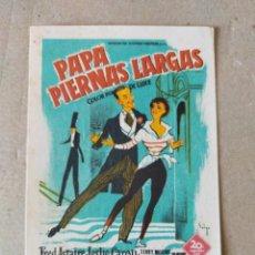 Cine: PROGRAMA DE CINE: PAPA PIERNAS LARGAS. FRED ASTAIRE, LESLIE CARON - TEATRO VILLAMARTA. Lote 220964316