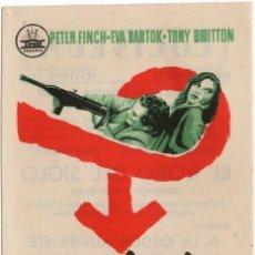 Cine: FOLLETO DE MANO - EL ROBO DEL SIGLO - PETER FINCH - CINE COLISEUM - TARRAGONA - AÑO 1959. Lote 220966673