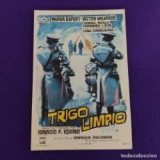 Cine: PROGRAMA DE CINE ORIGINAL. TRIGO LIMPIO. NURIA ESPERT. VICTOR VALVERDE. SIMPLE.. Lote 220999431