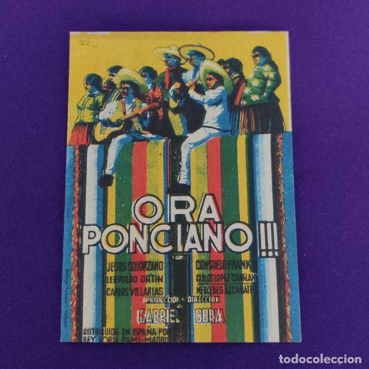 PROGRAMA DE CINE ORIGINAL. ORA PONCIANO. DOBLE. (Cine - Folletos de Mano - Comedia)