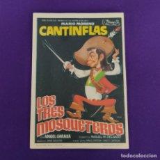 Cine: PROGRAMA DE CINE ORIGINAL. LOS TRES MOSQUETEROS. CANTINFLAS. SIMPLE.. Lote 221000043