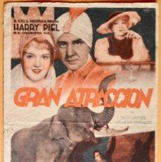 Cine: GRAN ATRACCION- HARRY PIEL , SUSI LANNER Y HILDE HILDEBRAND. Lote 221117813