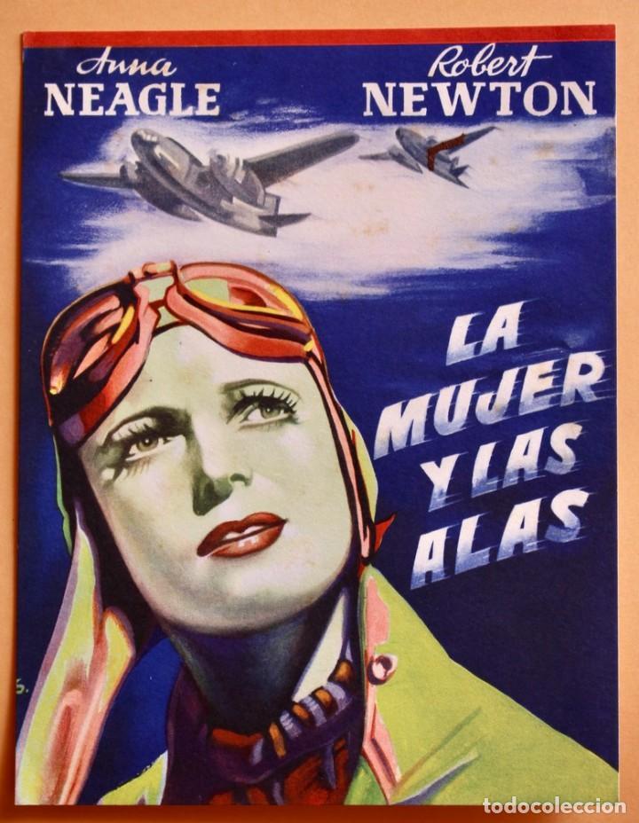 LA MUJER Y LAS ALAS- THEY FLEW ALONE- ANNA NEAGLE Y ROBERT NEWTON -1942 (Cine - Folletos de Mano - Acción)