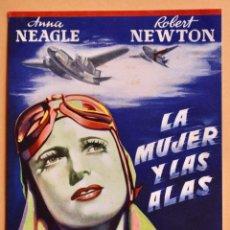 Cine: LA MUJER Y LAS ALAS- THEY FLEW ALONE- ANNA NEAGLE Y ROBERT NEWTON -1942. Lote 221264317