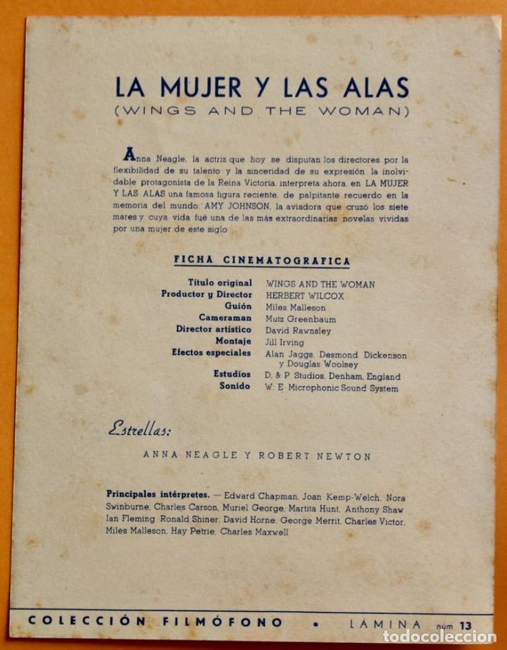 Cine: LA MUJER Y LAS ALAS- THEY FLEW ALONE- ANNA NEAGLE Y ROBERT NEWTON -1942 - Foto 2 - 221264317