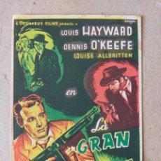 Cine: PROGRAMA DE CINE: LA GRAN AMENAZA. LOUIS HAYWARD, DENNIS O´KEEFE - CINE VICTORIA. Lote 221272773