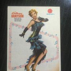 Cine: CUMBRES DORADAS - PROGRAMA DE CINE BADALONA C/P 1955. Lote 221284017