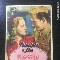 Folhetos de mão de filmes antigos de cinema: PRINCIPIO O FIN - PROGRAMA DE CINE BADALONA C/P. Lote 221285147