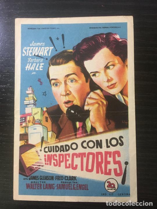 ¡CUIDADO CON LOS INSPECTORES! - PROGRAMA DE CINE BADALONA C/P 1952 (Cine - Folletos de Mano - Comedia)