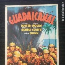 Cine: GUADALCANAL - PROGRAMA DE CINE - C/P BARCELONA. Lote 221288151