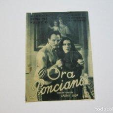 Cine: ORA PONCIANO-DOBLE-PROGRAMA DE CINE-VER FOTOS-(K-714). Lote 221307863