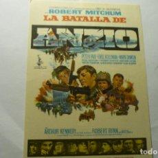 Cine: PUBLICIDAD LA BATALLA DE ANZIO .ROBERT MITCHUM PUBLICIDAD. Lote 221310482