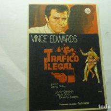 Cine: PROGRAMA TRAFICO ILEGAL .-VINCE EDWARDS -PUBLICIDAD. Lote 221315492