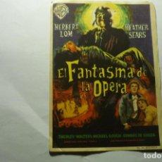 Cine: PROGRAMA EL FANTASMA DE LA OPERA .- HERBERT LOM -PUBLICIDAD. Lote 221316201