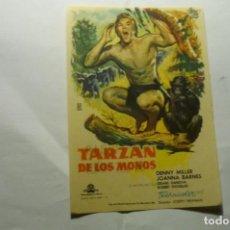 Foglietti di film di film antichi di cinema: PROGRAMA TARZAN DE LOS MONOS - DENNY MILLER PUBLICIDAD. Lote 221316792