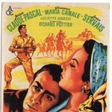 Cine: FOLLETO DE MANO - LA CASTELLANA DEL LIBANO - MARIA CANALE - CINE MODERNO - TARRAGONA - AÑO 1958. Lote 221317333