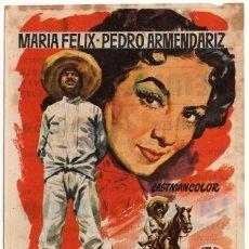 Cine: FOLLETO DE MANO - LA ESCONDIDA - MARIA FELIX / PEDRO ARMENDARIZ -CINE FEMINA - TARRAGONA - AÑO 1956. Lote 221321128