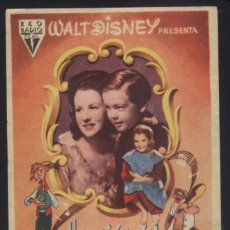 Cine: P-8934- CANCION DEL SUR (SONG OF THE SOUTH) RUTH WARRICK, BOBBY DRISCOLL, JAMES BASKETT. Lote 221328170