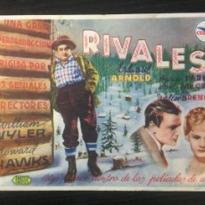 Cine: RIVALES - PROGRAMA DE CINE - C/P BADALONA. Lote 221333721