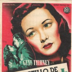 Cine: PN - PROGRAMA DE CINE - EL CASTILLO DE DRAGONWYCK - GENE TIERNEY - CINE ECHEGARAY (MÁLAGA) - 1946.. Lote 221340111