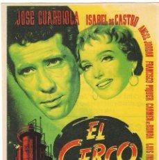 Cine: PN - PROGRAMA DE CINE - EL CERCO - JOSÉ GUARDIOLA, ISABEL DE CASTRO - PRINCIPAL CINEMA (MÁLAGA) 1956. Lote 221340956