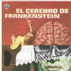 Cine: PN - PROGRAMA DE CINE - EL CEREBRO DE FRANKENSTEIN - PETER CUSHING - CINE CAPITOL (MÁLAGA) - 1969.. Lote 221341868