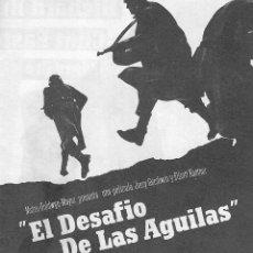 Cine: PN - PROGRAMA DOBLE - EL DESAFIO DE LAS AGUILAS - RICHARD BURTON, CLINT EASTWOOD - CINE ALBÉNIZ 1969. Lote 221361941