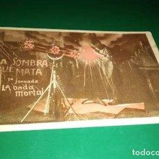 Cine: ANTIGUO PROGRAMA DE CINE POR JORNADAS. LA SOMBRA QUE MATA. LA ONDA MORTAL. J 1. SALÓN ESPAÑA. Lote 221366345
