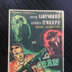 Foglietti di film di film antichi di cinema: LA GRAN AMENAZA - PROGRAMA DE CINE BARCELONA C/P 1955. Lote 221379057