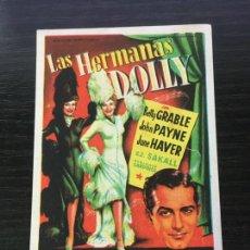 Cine: LAS HERMANAS DOLLY - PROGRAMA DE CINE BADALONA C/P 1952. Lote 221393901